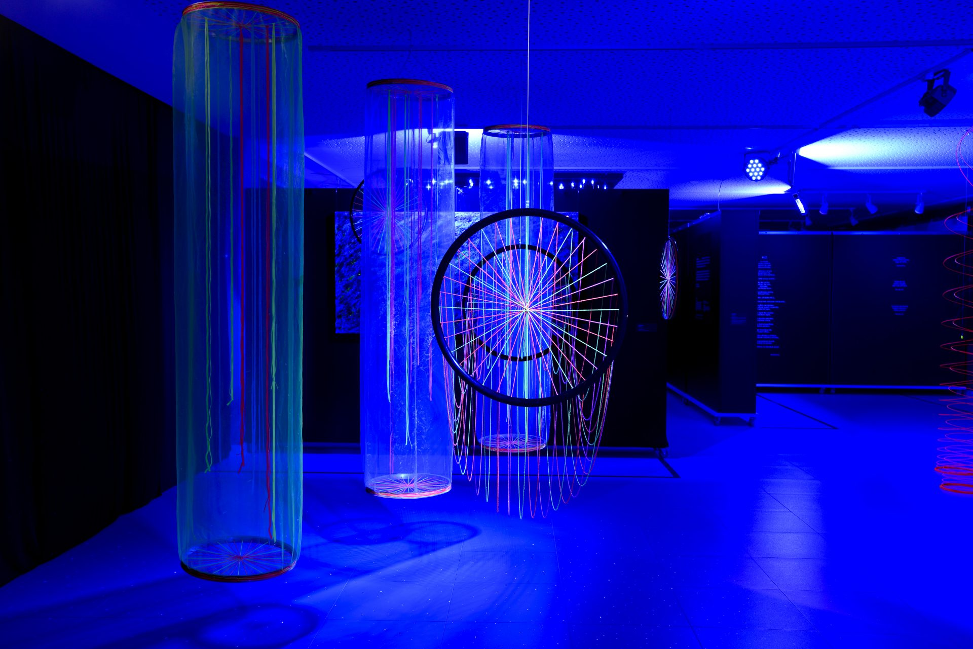 """Instalação """"Comunicação"""" (2017). Foto de: João Borges"""