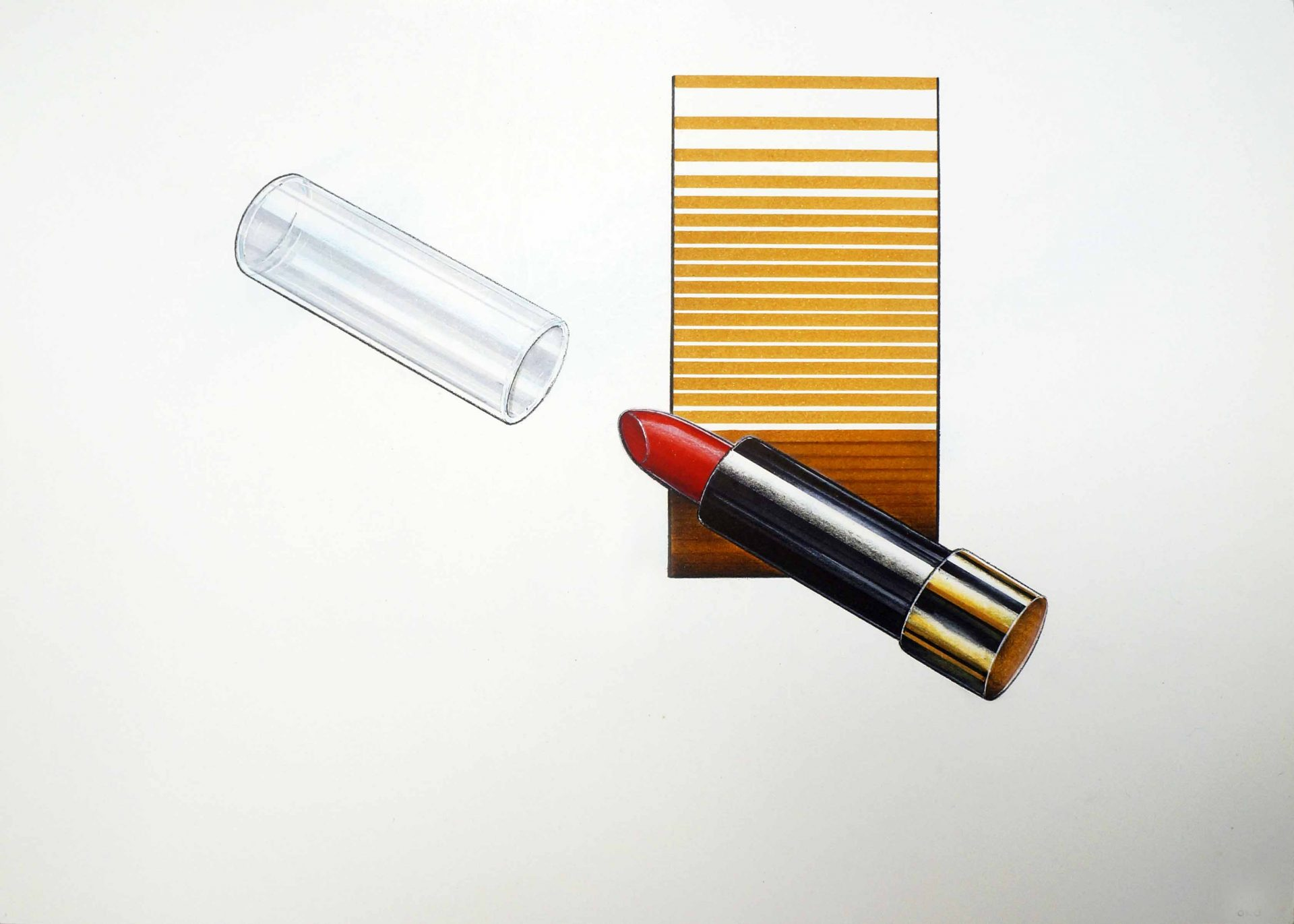 Ilustração com técnica mista (rotuladores, giz pastel seco, guache, nanquim e lápis dermatográfico)