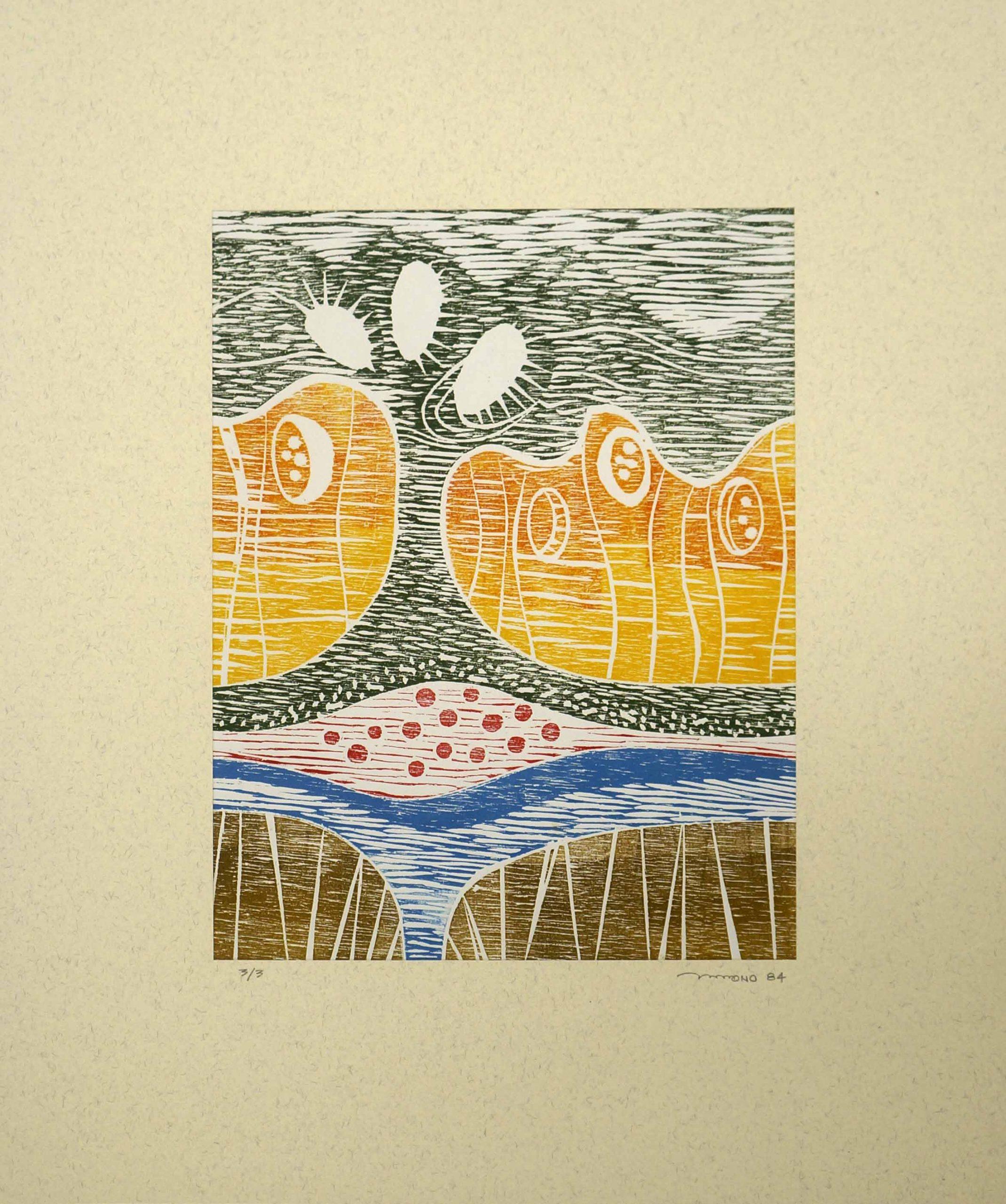 Xilogravura em papel - 24,5 x 19 cm (1984), impressão: 3/3