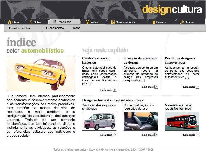 Página do website Design Cultura (www.designcultura.org)