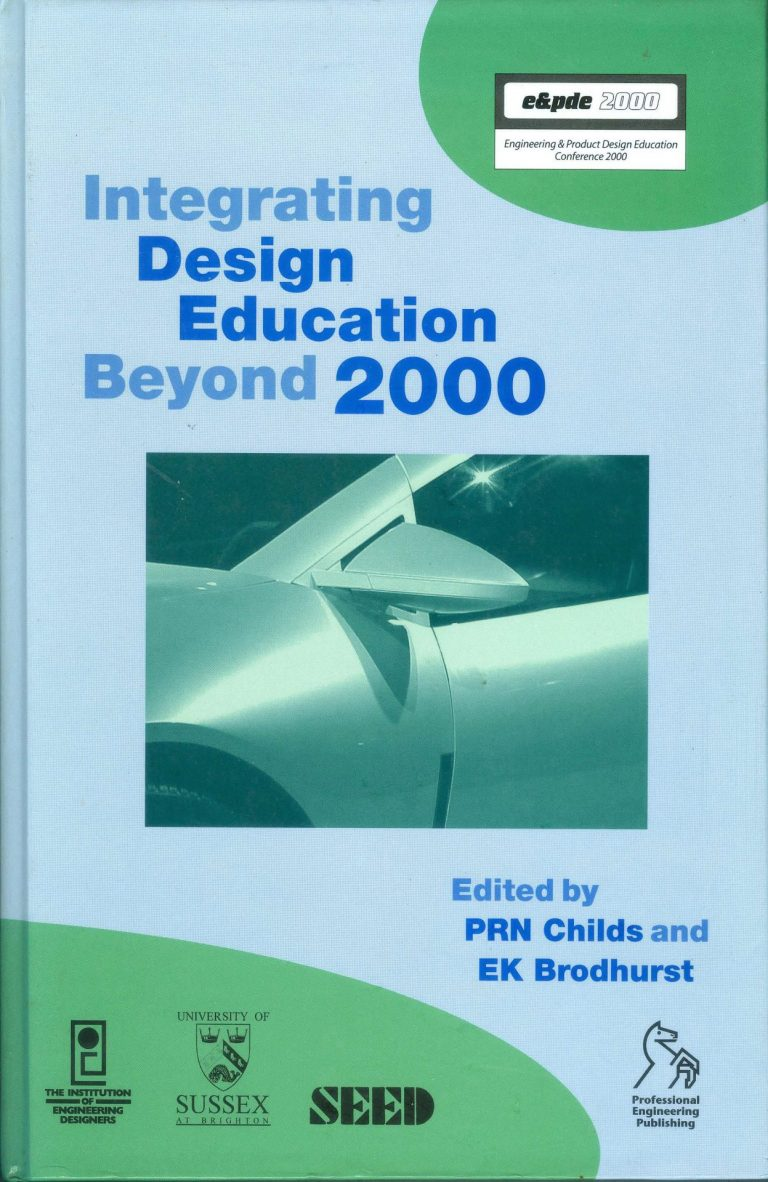 "Capa de ""Integrating Design Education Beyond 2000"""