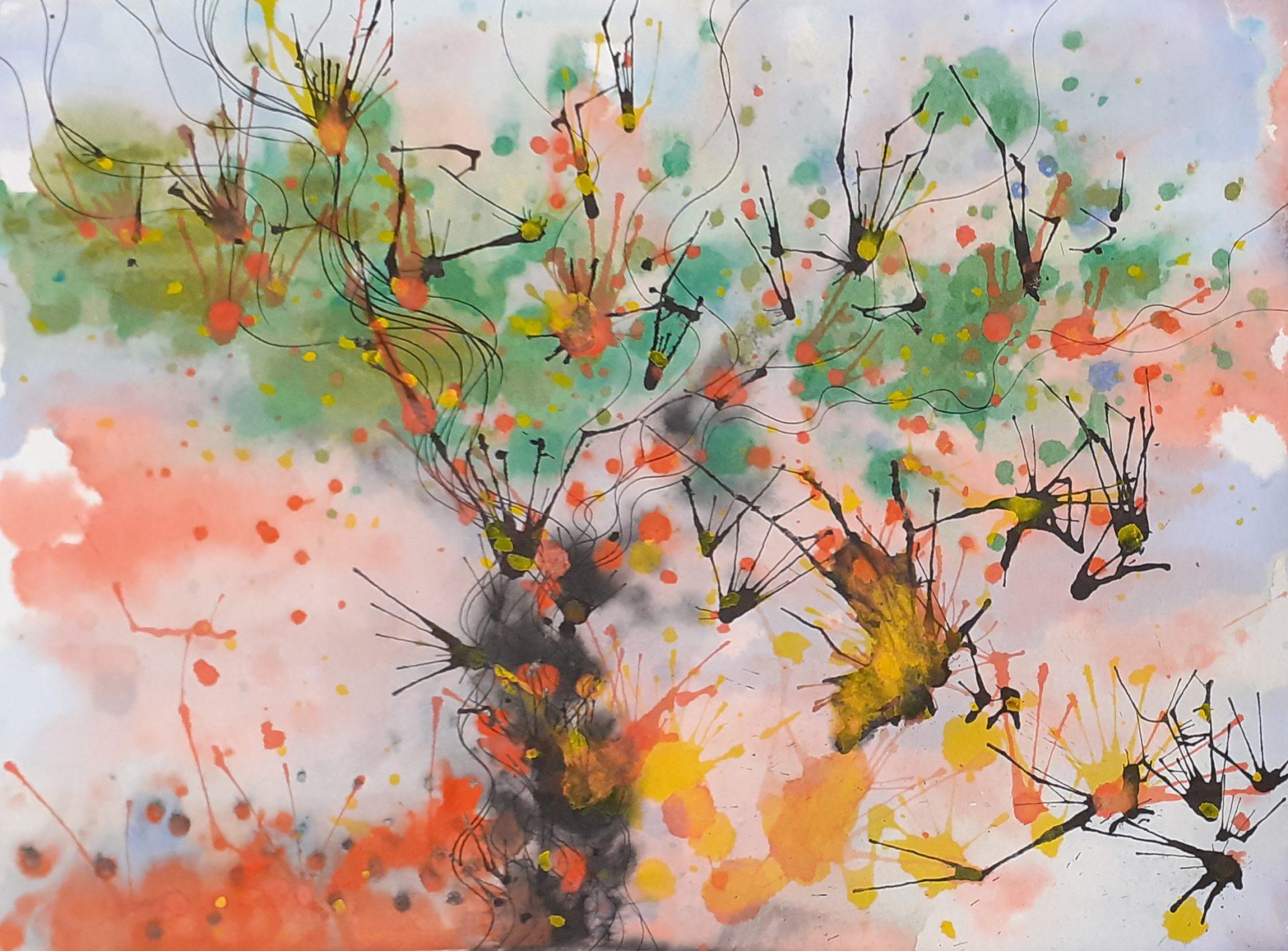 Mista - aquarela, guache e nanquim sobre papel - 28,3x38,7 (2020)